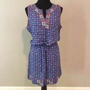 Lucky Brand Irving & Fine embroidered dress M